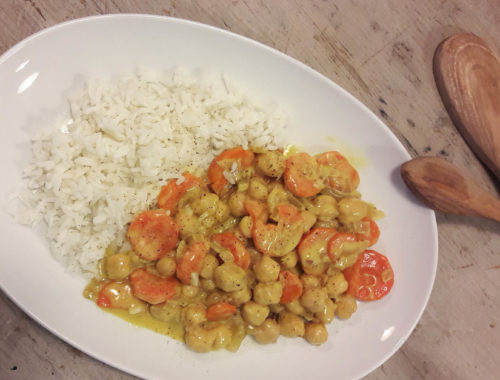 curry pois chiches coco